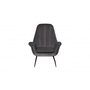 Кресло велюровое серо-голубое 46AS-AR3092-GBLUE