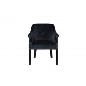 Кресло велюровое темно-серое 46AS-AR2357-DGREY