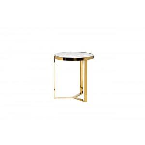 Столик журнальный с прозрачным стеклом (цвет золото) 47ED-ET031GOLD