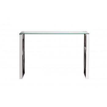 Консоль с прозрачным стеклом (цвет хром) 47ED-CST008