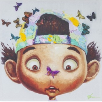 """Картина """"Boy with Butterflys"""" Kare 37786"""