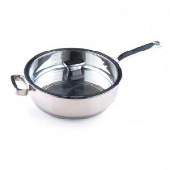 Глубокая сковорода 28 см. с дополнительной ручкой 4,5 л. Positano ZANUSSI ZCU51411AF