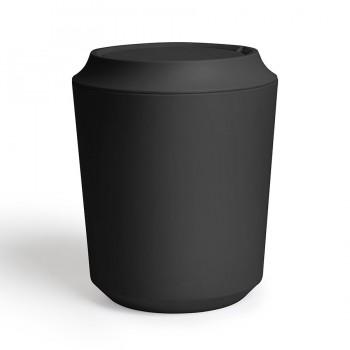Корзина для мусора с крышкой Kera чёрная Umbra 1005487-040