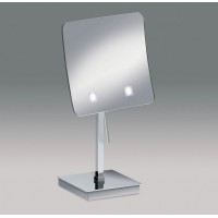 Зеркало настольное с LED (диодной) подсветкой (белый свет) 3-х кратное WINDISH 99637CR Chrome