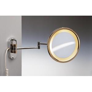 Зеркало подвесное с подсветкой (желтый свет) 2-х кратное  WINDISCH 99150CR