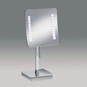 Зеркало настольное с LED (диодной) подсветкой (белый свет) 3-х кратное WINDISH 99627CR Chrome