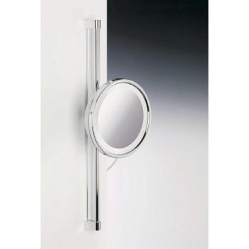 Зеркало подвесное на штанге с флуор.подсветкой (белый свет) 2-х кратное  WINDISCH 99182CR