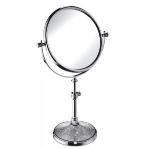 Зеркало настольное со Swarovski STAR LIGHT ROUND 2-х кратное  WINDISCH 99532CR
