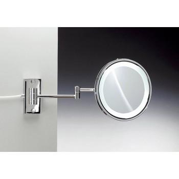 Зеркало подвесное с флуор.подсветкой (белый свет) 2-х кратное WINDISCH 99187CR
