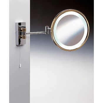 Зеркало подвесное с флуор.подсветкой (белый свет) 3-х кратное хром WINDISCH 99185 CR