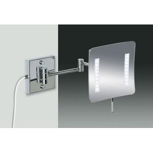 Зеркало подвесное с LED (диодной) подсветкой (белый свет) 3-х кратное увеличение WINDICH 99657/2CR