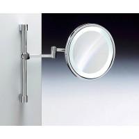Зеркало подвесное на штанге с флуор.подсветкой (белый свет) 3-х кратное WINDISCH 99189CR
