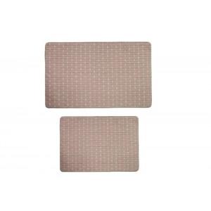 Комплект ковриков для ванной 2 предмета PRIMANOVA D-19939 MEMORY FOAM Rattan (бежевый)
