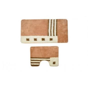 Комплект ковриков для ванной 2 предмета PRIMANOVA D-14017 Rattan Wire
