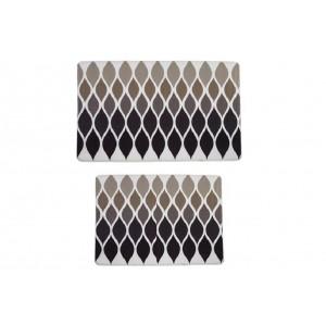 Комплект ковриков с эффектом памяти, 2 предмета PRIMANOVA D-15719 MEMORY FOAM HENRY (серый)