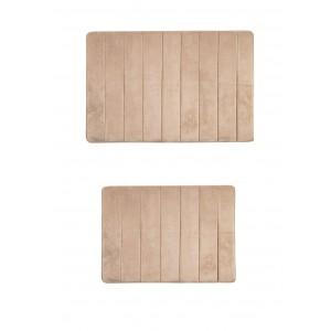 Комплект ковриков с эффектом памяти, 2 предмета PRIMANOVA D-16021 MEMORY FOAM (бежевый)