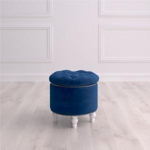 Пуф круглый малый с ящиком Гроссето Studioakd puf kr MR20 Синий