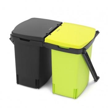 Ведро для мусора двухсекционное Brabantia 482205