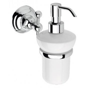 Дозатор для жидкого мыла настенный хром/керамика Nicolazzi 1489CR