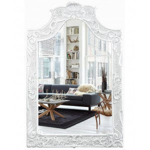 Зеркало в раме Агеда LouvreHome (Gloss white)