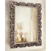Зеркало в раме Бергамо LouvreHome (Florentine silver)