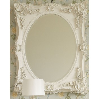 Зеркало в раме Гретта LouvreHome (Chalk white)