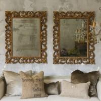 Зеркало в раме Бенджамин LouvreHome (Vienna gold)