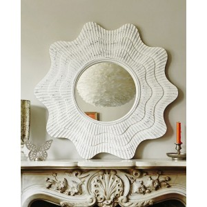 Зеркало в раме Марайа LouvreHome (Chalk white)