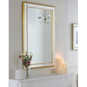 Зеркало в раме Дорсет LouvreHome (20C. Gold)