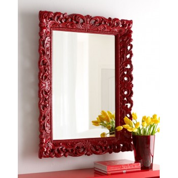 Зеркало Гэрри LouvreHome (Gloss red)