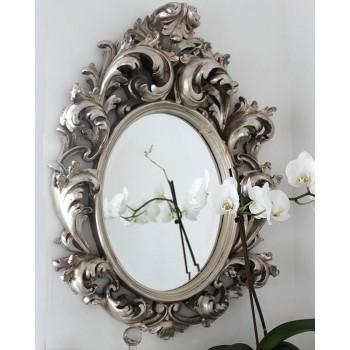 Зеркало в раме Овьедо LouvreHome (Florentine silver)
