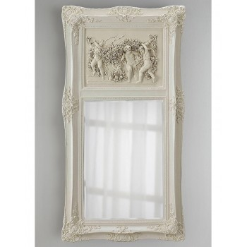 Зеркало в раме Францини LouvreHome (Distressed chalk white)