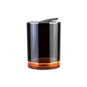 Урна с крышкой PRIMANOVA D-15274 FLOAT (оранжевый)