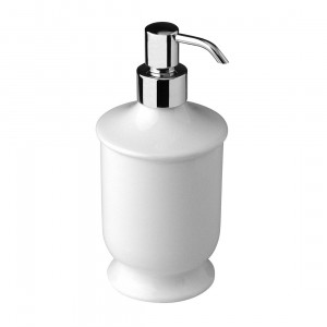 Дозатор для жидкого мыла настольный, хром/белая керамика Nicolazzi 6006CR