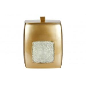 Урна с крышкой, полимер PRIMANOVA D-15504 VENIS (шампань)