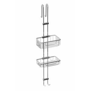 Полка-сетка прямая двухъярусная для душевой кабины Cameya HD201