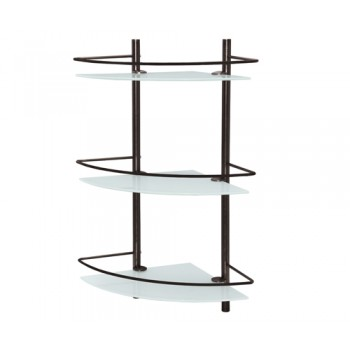 Полка стеклянная тройная угловая WasserKRAFT K-3633