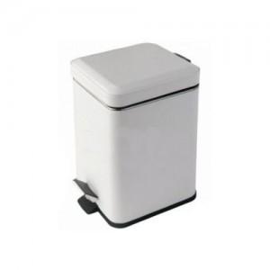 Ведро для мусора квадратное белое 3л с педалью Colombo Black&White B9210 EPB