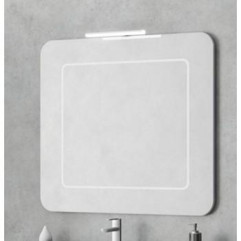 Зеркало со светильником Smile Заффиро 85