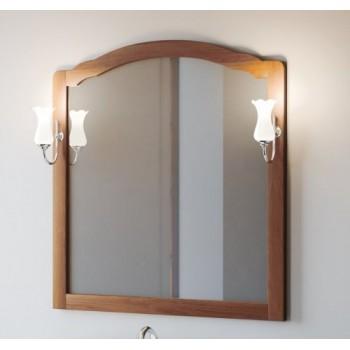 Зеркало со светильниками Smile Империал 100 орех