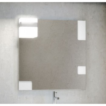 Зеркало со светильником Smile Санторини 100 белое