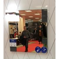 Зеркало со светильником Smile Санторини 80 серое
