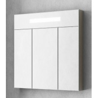 Зеркальный шкаф Smile Стайл 70 белый/дуб орегон