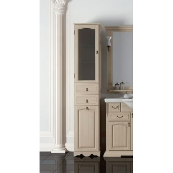 Шкаф для ванной напольный Opadiris Риспекто Пенал Белый