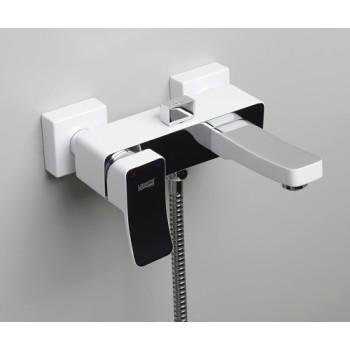 Смеситель белый для ванны с коротким изливом Wasserkraft Aller 1061WHITE