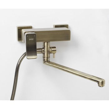 Смеситель для ванны с длинным изливом Exter 1602L бронзовый