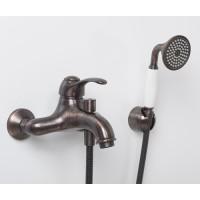 Смеситель для ванны с коротким изливом Isar 1301 бронзовый