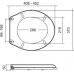 Сиденье для унитаза Flora с микролифтом D-15208