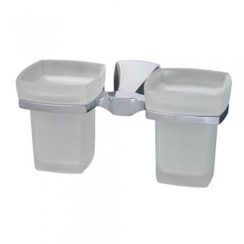 Стакан для зубных щеток двойной WasserKRAFT Wern К-2528D