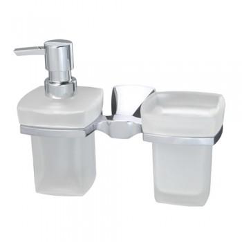 Стакан и дозатор жидкого мыла WasserKRAFT Wern К-2589